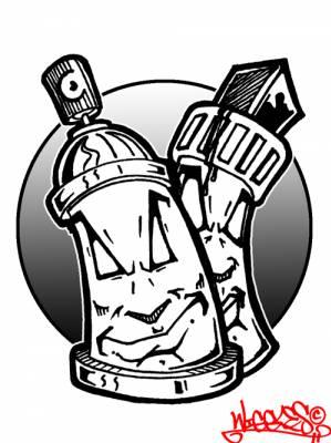 Bombe et torche de graffiti le style - Bombe de graffiti ...